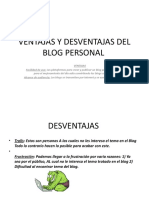 Ventajas y Desventajas Del Blog