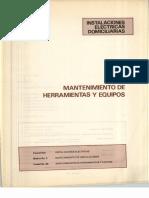 Vol. 60 Instalaciones Eléctricas Domiciliarias Mantenimiento de Herramientas y Equipos