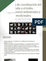 Química de Coordinación Del Rodio y El Iridio