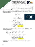 Solución segundo examen de química II ESPOL