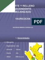 Corte Y Relleno Ascendente Mecanizado Yauricocha