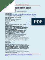 Civil Establishment Code