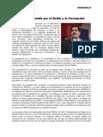 Venezuela Un Estado Destruido Por El Delito y La Corrupción