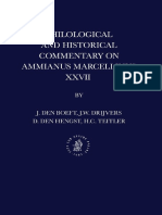 Jan Willem Drijvers, J. Den Boeft, D. Den Hengst, H. C. Teitler, Philological and Historical Commentary on Ammianus Marcellinus 27 (Inglés)