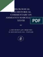 Jan Willem Drijvers, J. Den Boeft, D. Den Hengst, H. C. Teitler, Philological and Historical Commentary on Ammianus Marcellinus 28 (Inglés)