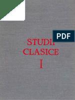 Studii Clasice Vol. I