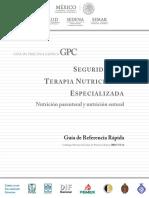 Nutricion Especializada Nutrienteral y Parenteral