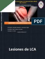 Lesiones Ligamentarias de Rodilla