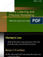 Active Listening and Notetaking