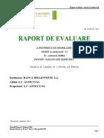 Raport Evaluare Anteco s.a.