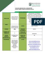 Syllabus Lógica Filosófica 2016-II (1)