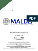 2017-2018 MALDEF Scholarship List 10.2016