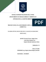 Escuela Superior Politécnica Del Litoral Introduccion Ambiental