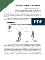 BRANDÃO, Antônio Jackson de Souza. As Funções da Linguagem em Roman Jakobson