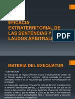 Eficacia Extraterritorial de Las Sentencias y Laudos Arbitrales