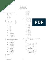 1981 Mathematics Paper2