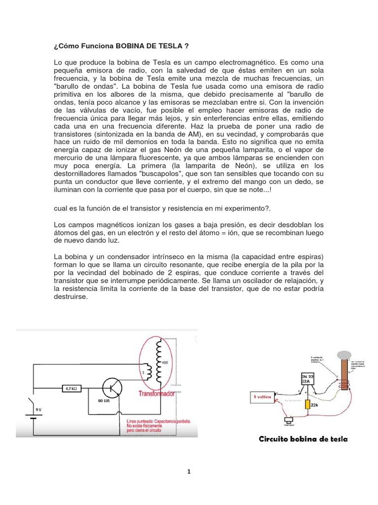Circuito Bobina De Tesla : Bobina de tesla y mini taladro