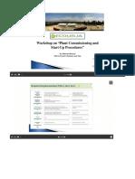 Prosedur Commissioning & Start Up