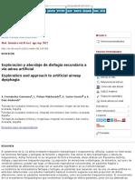 Exploración y abordaje de disfagia secundaria a vía aérea artificial
