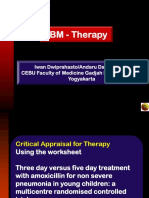 Evidence Based Medicine - CONSORT & Appraisal
