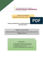 Epidemiologia y Metodologia de La Investigacion en Psicologia Clinica