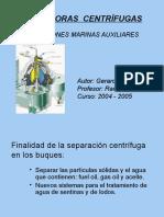 presentación SEPARADORAS  CENTRÍFUGAS