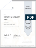Systems Thinking in Public Health Rubén Pedro Rodríguez Torres Certificate