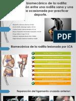 Biomecanica de La Rodilla sana y enferma