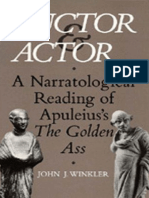 John J. Winkler, Auctor and Actor. a Narratological Reading of Apuleius' the Golden Ass (Inglés)
