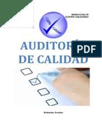 Libro de Auditoria de Calidad