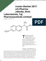 Global Naproxen Market 2017 -Teva,Kirsch Pharma GmbH,Aurobindo,Divis Laboratories,Taj Pharmaceuticals Limited