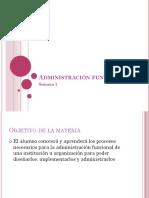 Administración Funcional