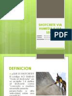 3. Shotcrete via Humeda y via Seca