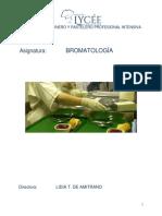 9a - BROMATOLOGÍA ALIMENTARIA