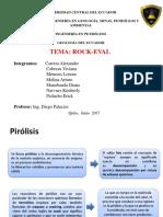 Pirólisis (Rock Eval)