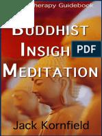 Buddhist Insight Meditation