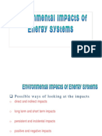 Environmental Impacts of Energy Systems