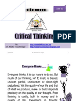 Critical Thinking, By Dr. Shadia Yousef Banjar