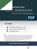 Tham Dinh Du an - NPV-IRR