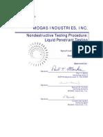 Certification Ndt 200 v2 Mogas Lpt Procedure
