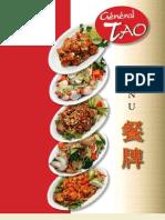 English menu - General Tao Restaurant