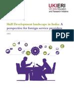 UKIERI-3Nov2015- Skill Development Landscape in India- Perspective for Foreign Service Providers