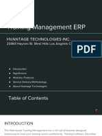 Training Management ERP