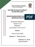 Poblacion de proyecto para el municipio de Olinala