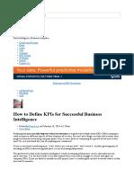 How to define KPIs