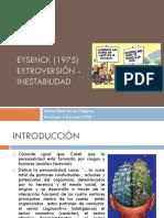 Eysenck (1975) Extroversión - Inestabilidad (1)