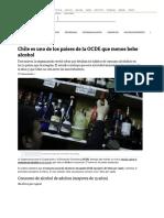 Chile es uno de los países de la OCDE que menos bebe alcohol _ Tele 13