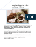 Government Regulations for Online Remittance of Money