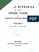1672-1750, Muratori LA, Annali d Italia Ed Altre Opere Varie (Mauri Accurante) Vol 1, IT