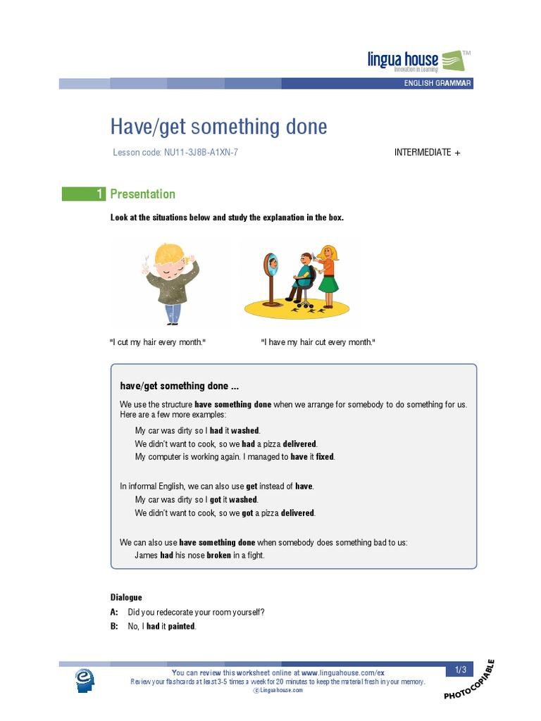 Have get something done.pdf  English Language  Languages